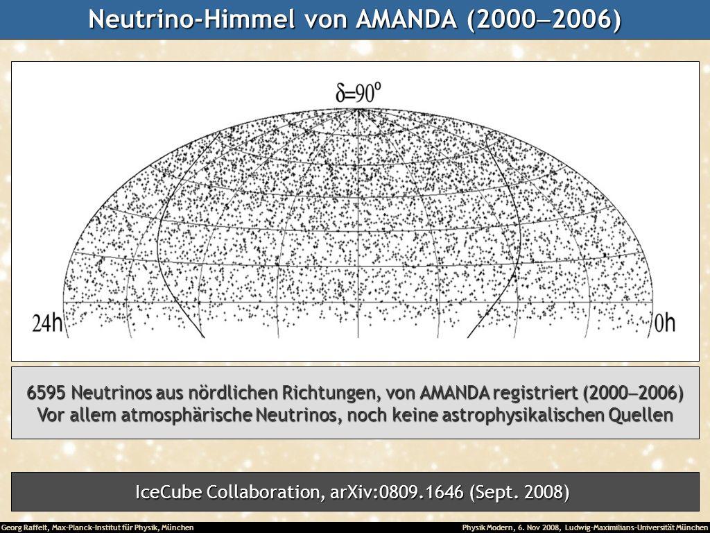 Neutrino-Himmel von AMANDA (2000-2006)