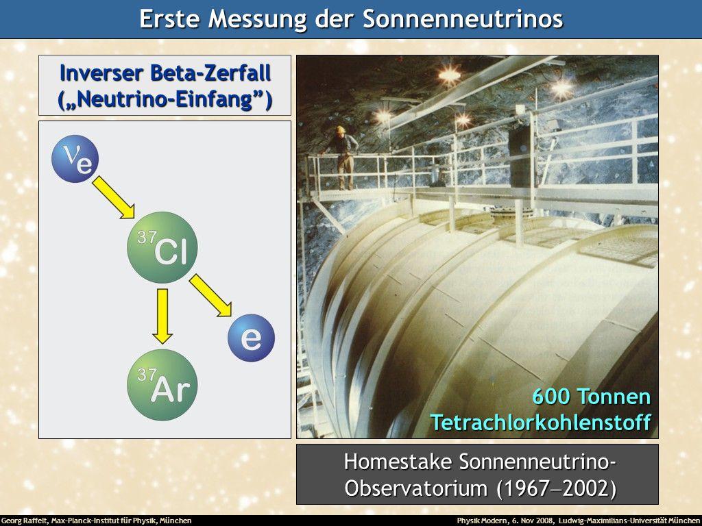 Erste Messung der Sonnenneutrinos