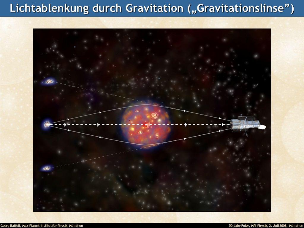 """Lichtablenkung durch Gravitation (""""Gravitationslinse )"""