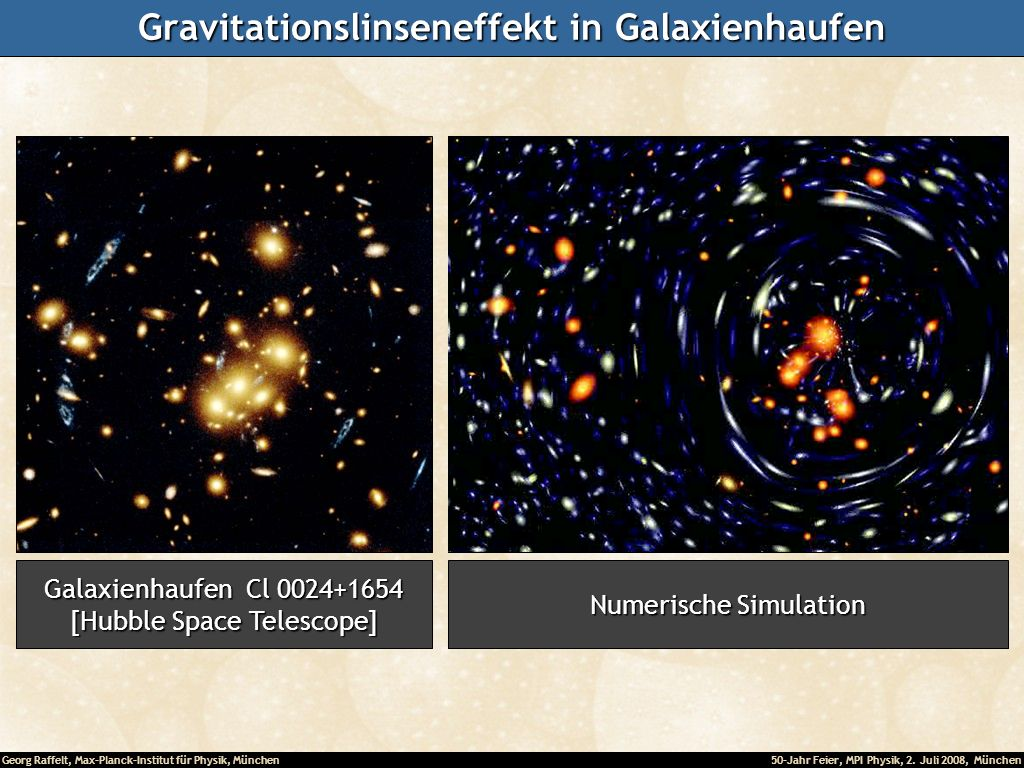 Gravitationslinseneffekt in Galaxienhaufen