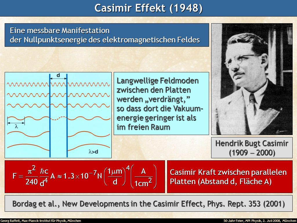 Casimir Effekt (1948) Eine messbare Manifestation