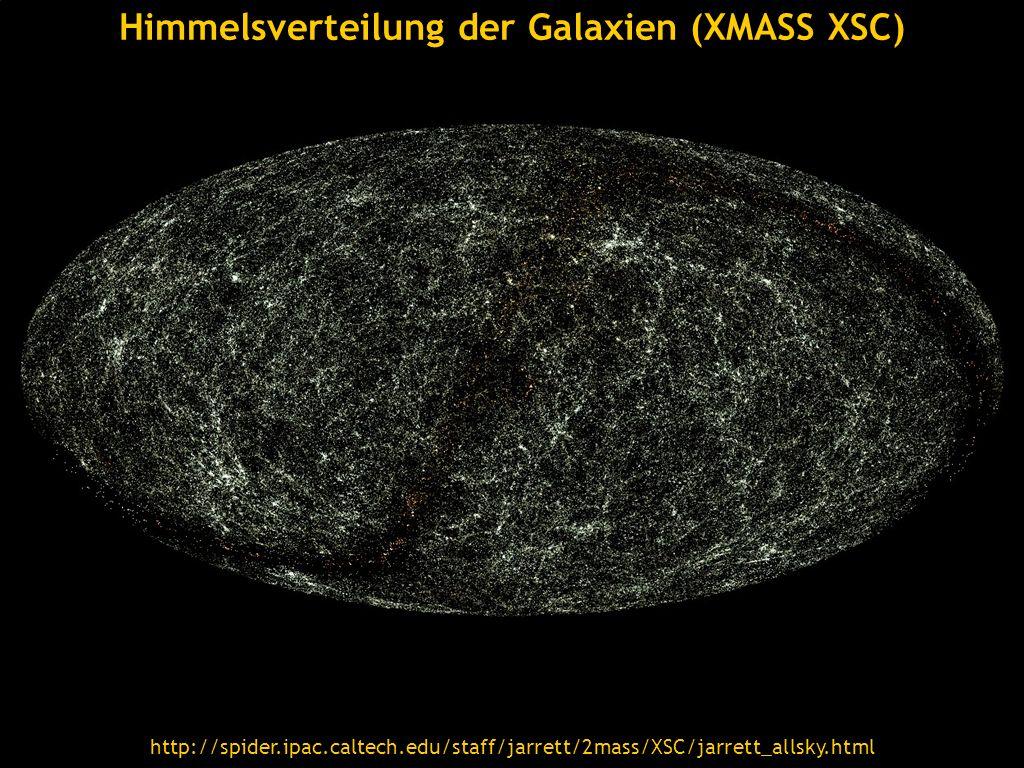 Himmelsverteilung der Galaxien (XMASS XSC)