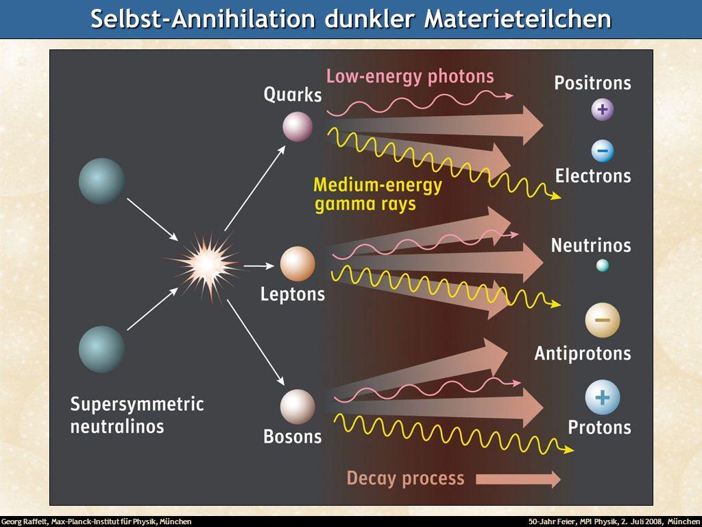 Selbst-Annihilation dunkler Materieteilchen