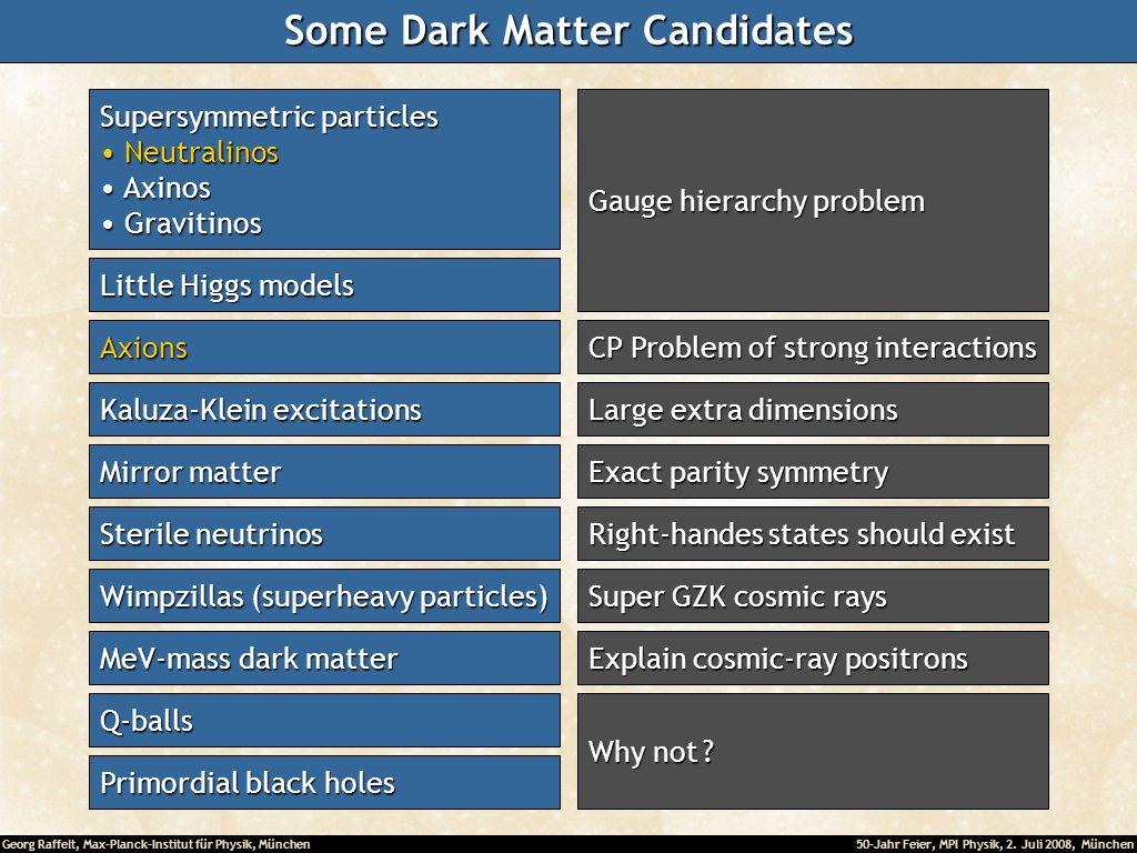 Some Dark Matter Candidates