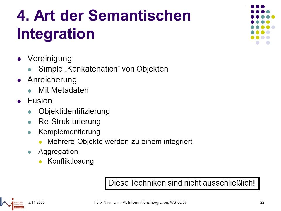 4. Art der Semantischen Integration