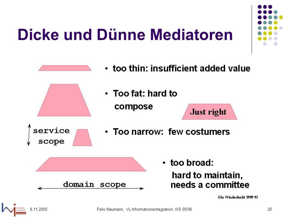 Dicke und Dünne Mediatoren