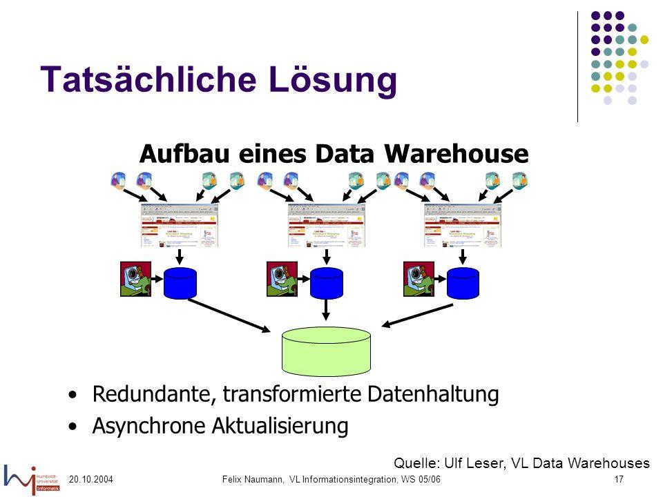 Aufbau eines Data Warehouse