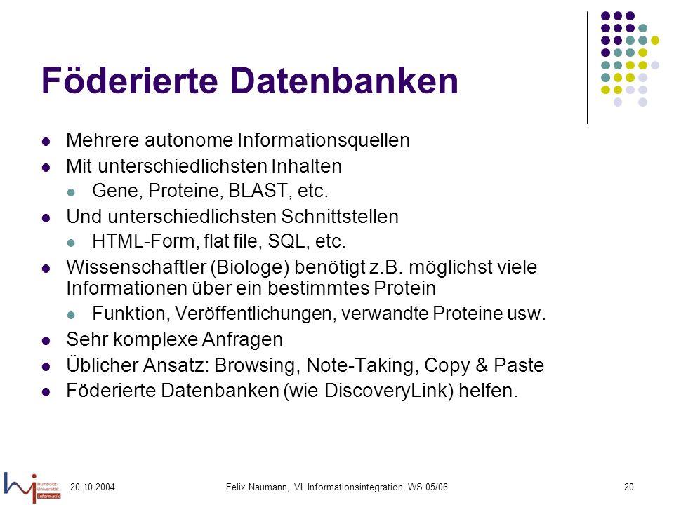 Föderierte Datenbanken