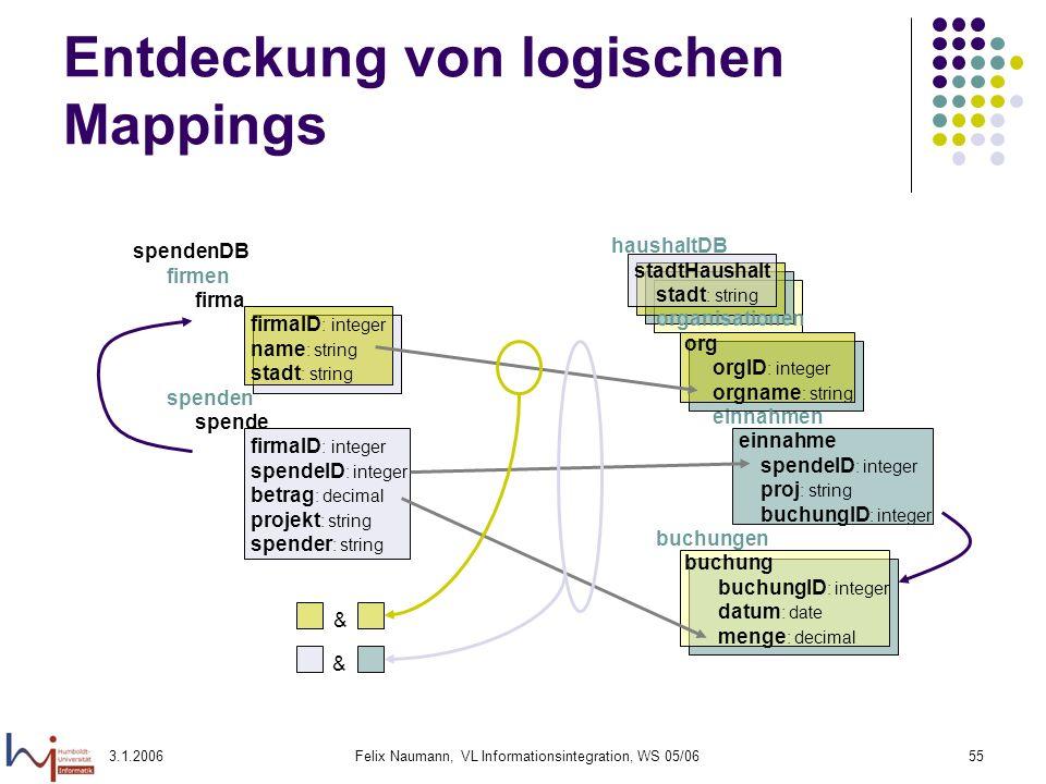 Entdeckung von logischen Mappings