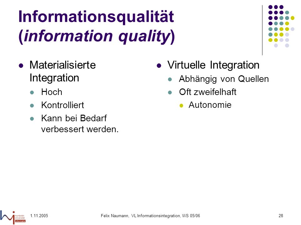 Informationsqualität (information quality)