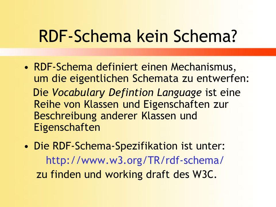 RDF-Schema kein Schema