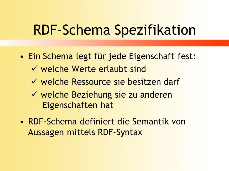 RDF-Schema Spezifikation