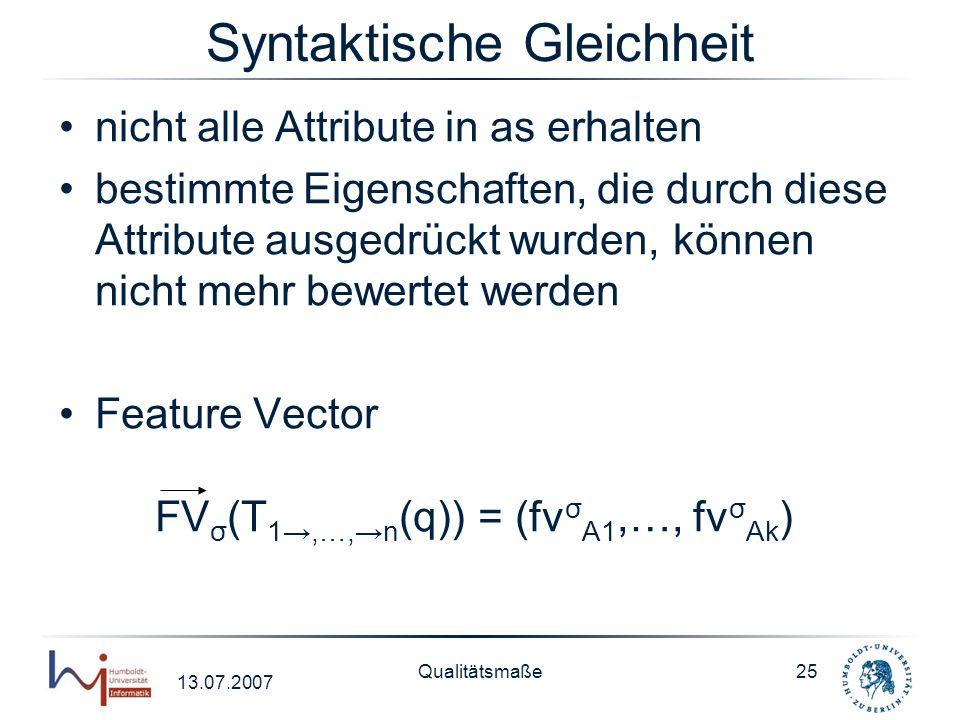 Syntaktische Gleichheit