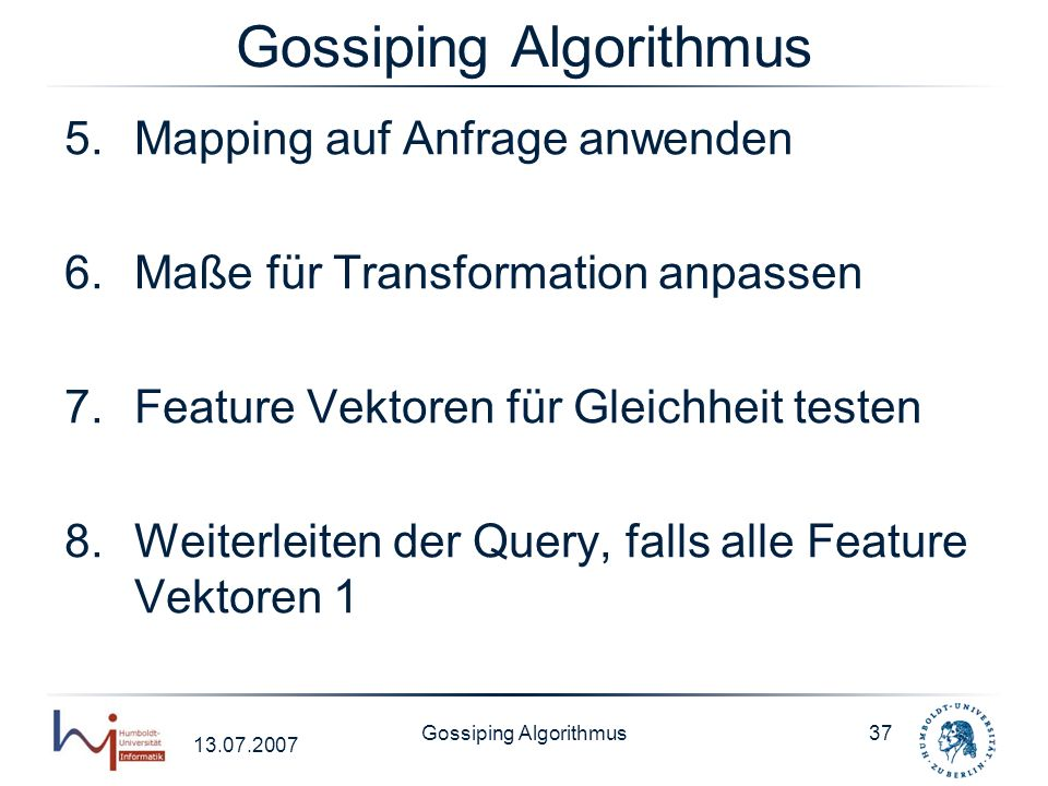 Gossiping Algorithmus