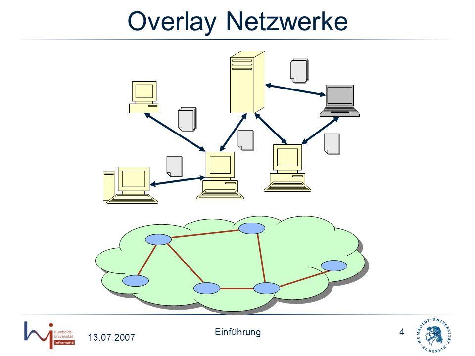 Overlay Netzwerke Einführung 13.07.2007