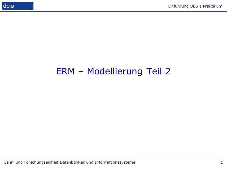 ERM – Modellierung Teil 2
