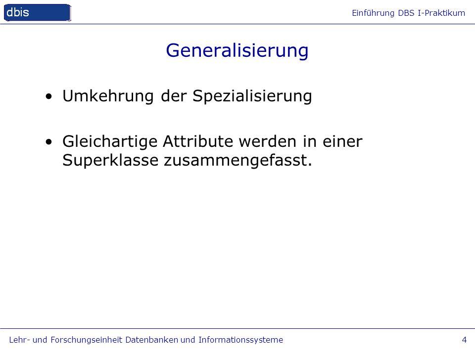 Generalisierung Umkehrung der Spezialisierung