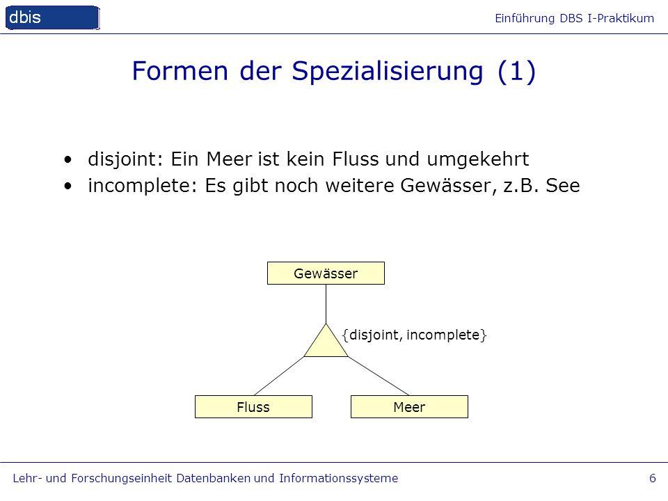 Formen der Spezialisierung (1)