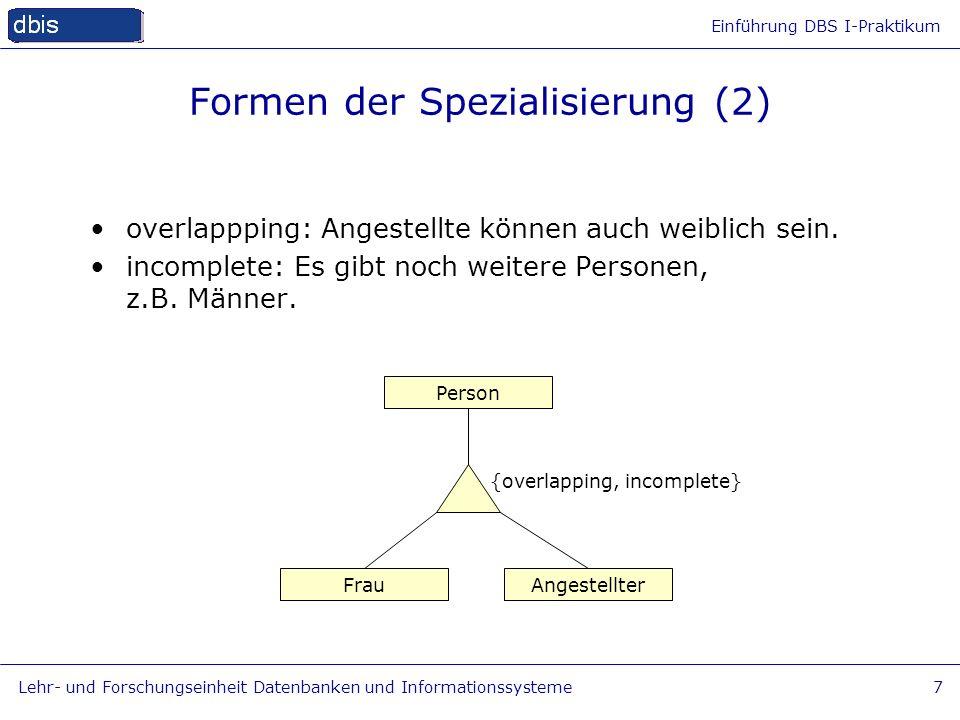 Formen der Spezialisierung (2)