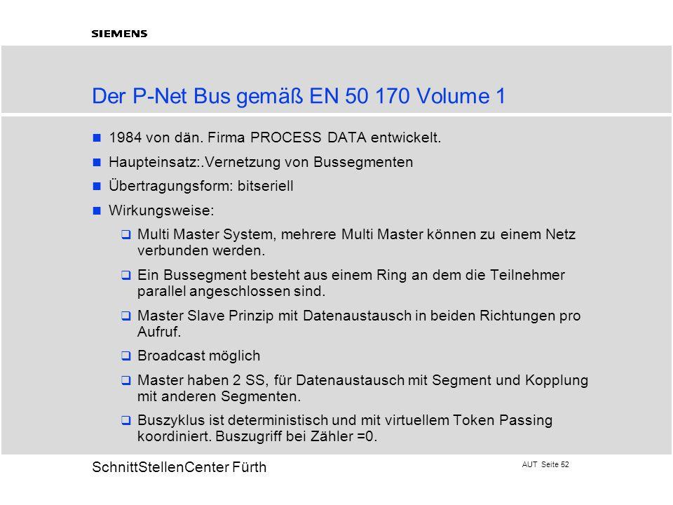 Der P-Net Bus gemäß EN 50 170 Volume 1