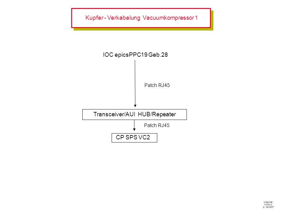 Kupfer - Verkabelung Vacuumkompressor 1