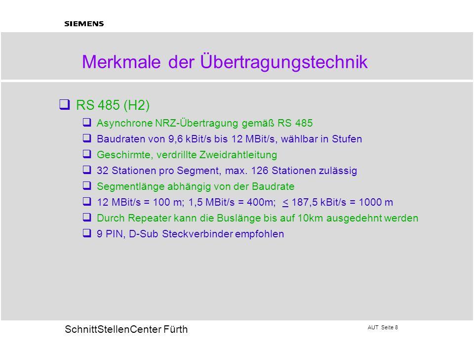 Merkmale der Übertragungstechnik
