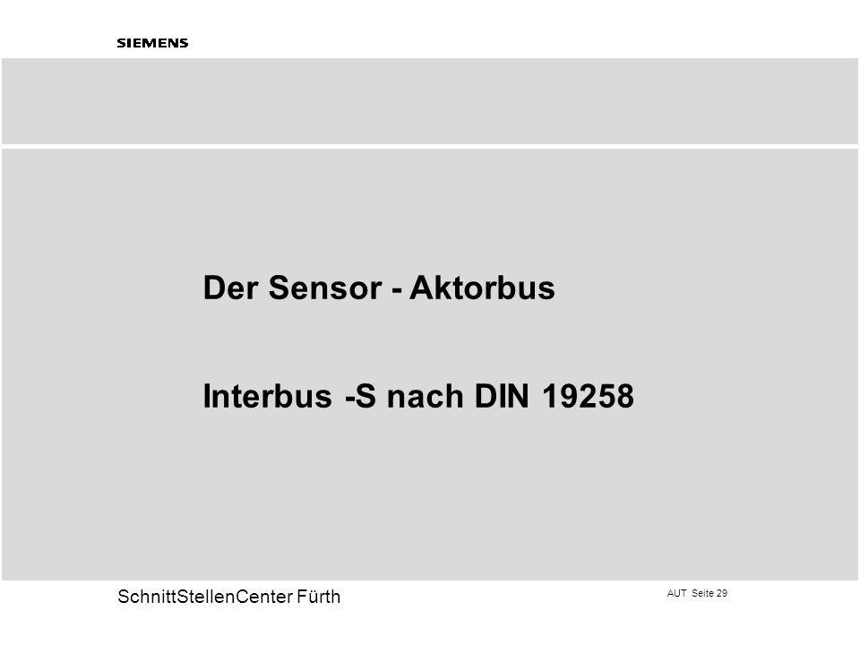 Der Sensor - Aktorbus Interbus -S nach DIN 19258