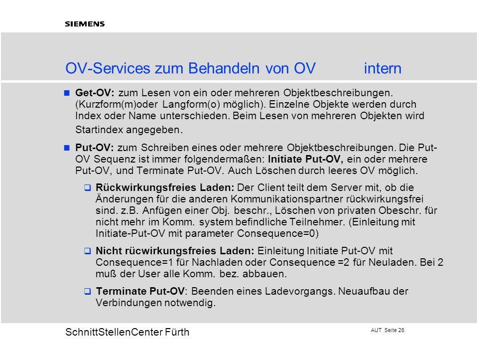 OV-Services zum Behandeln von OV intern