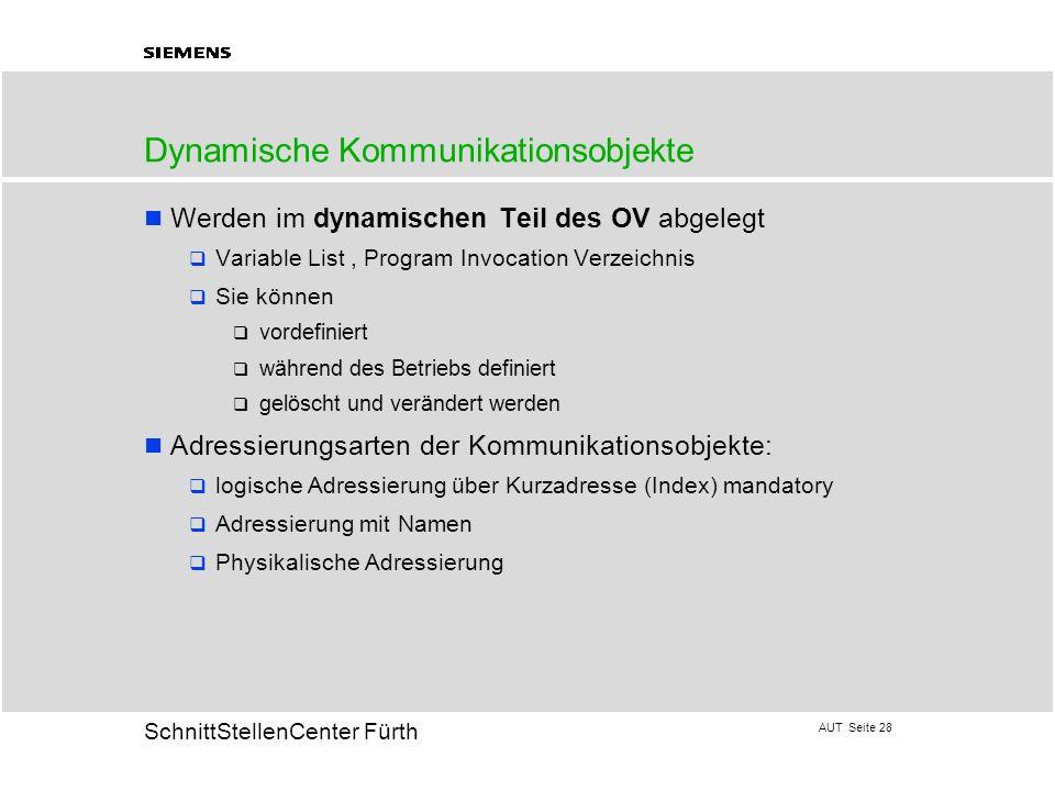 Dynamische Kommunikationsobjekte