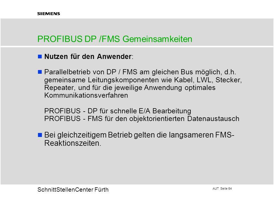 PROFIBUS DP /FMS Gemeinsamkeiten