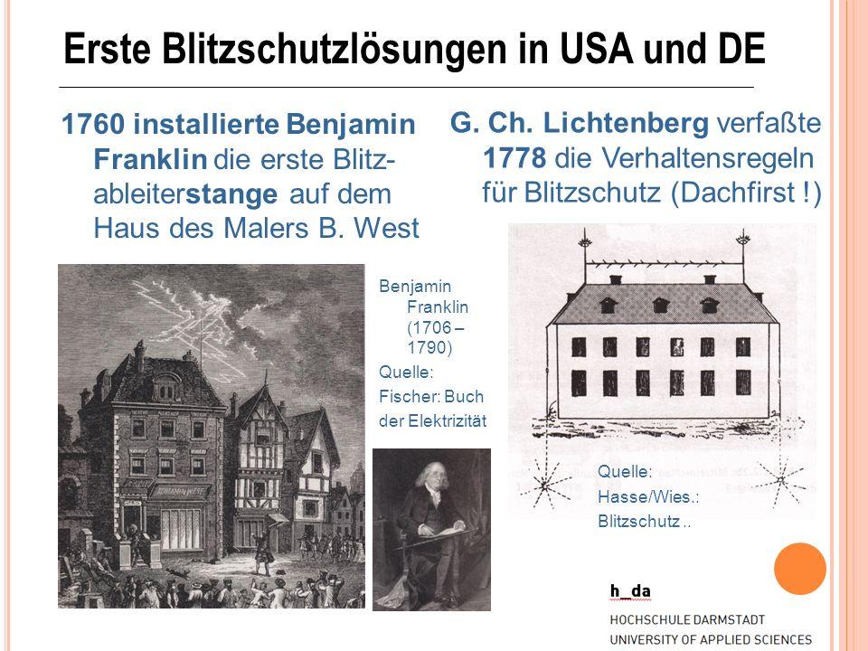 Erste Blitzschutzlösungen in USA und DE