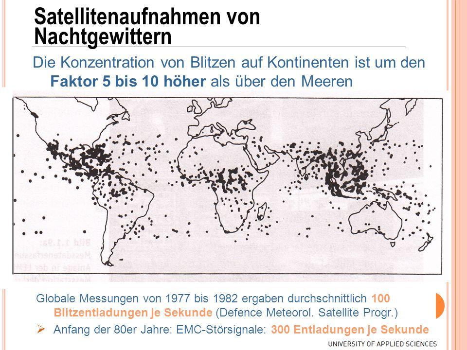 Satellitenaufnahmen von Nachtgewittern