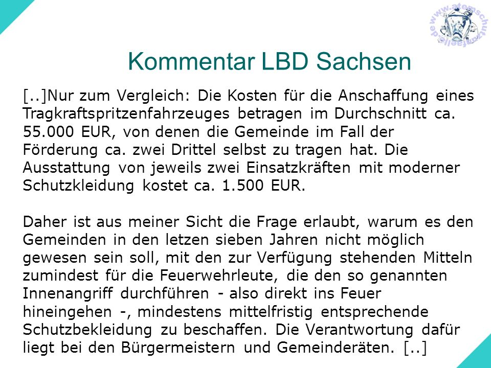 Kommentar LBD Sachsen