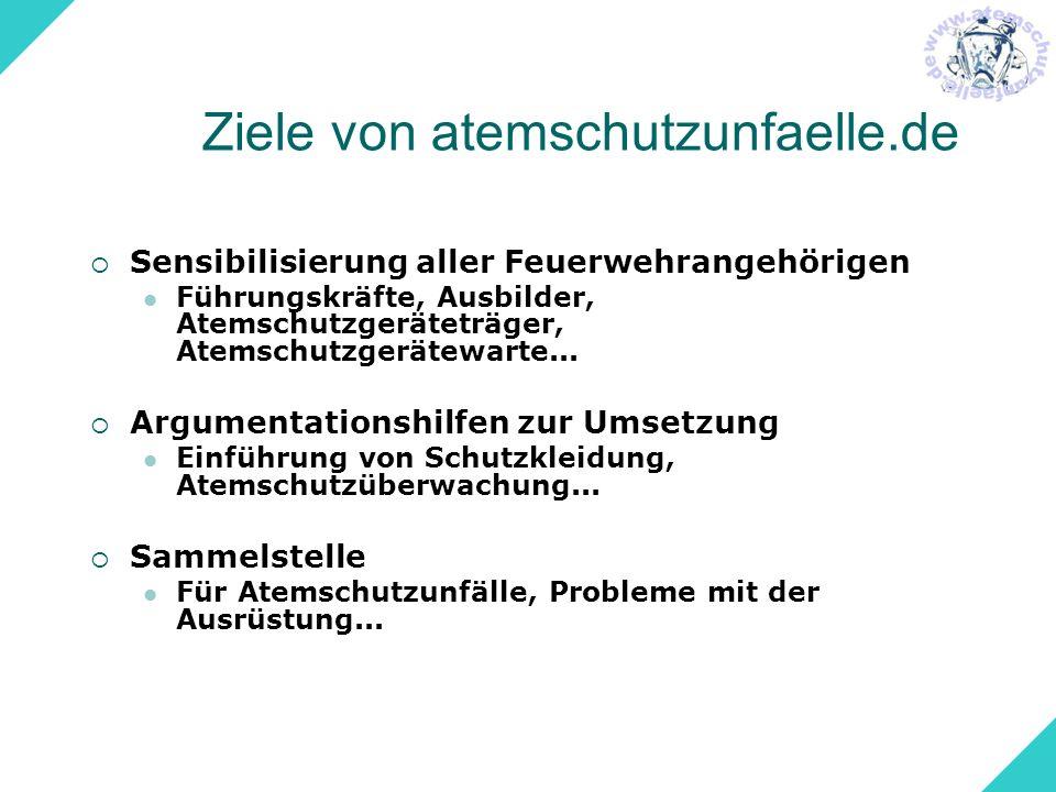 Ziele von atemschutzunfaelle.de