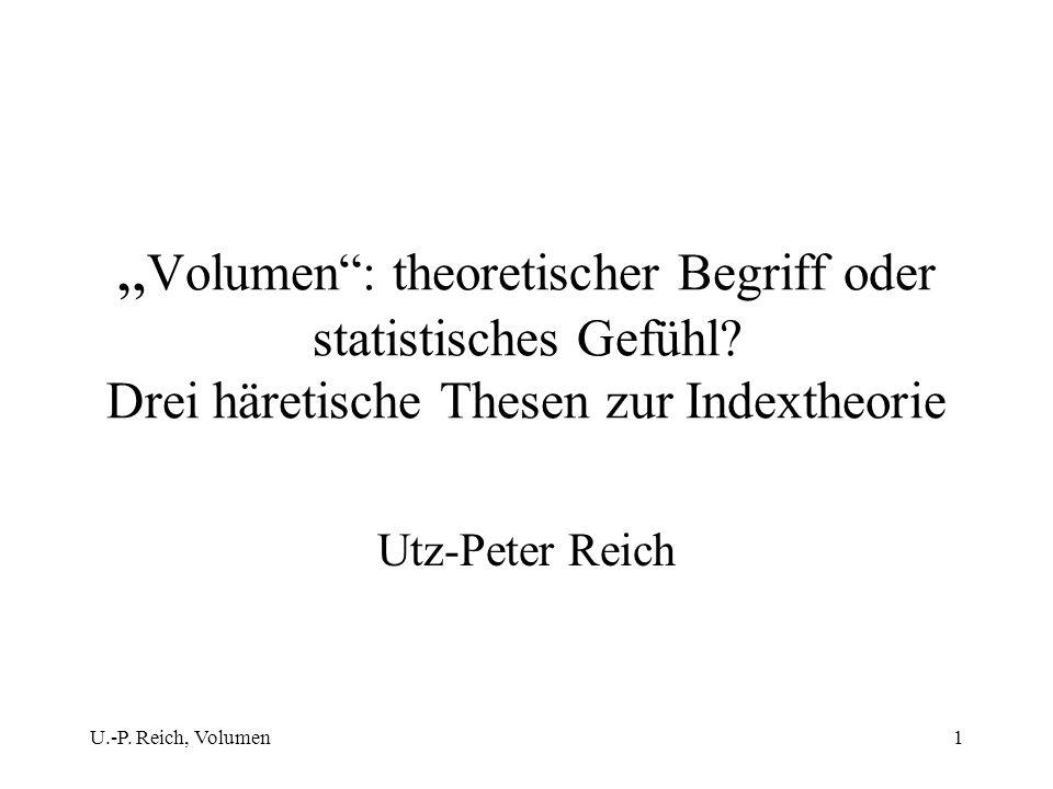 """""""Volumen : theoretischer Begriff oder statistisches Gefühl"""