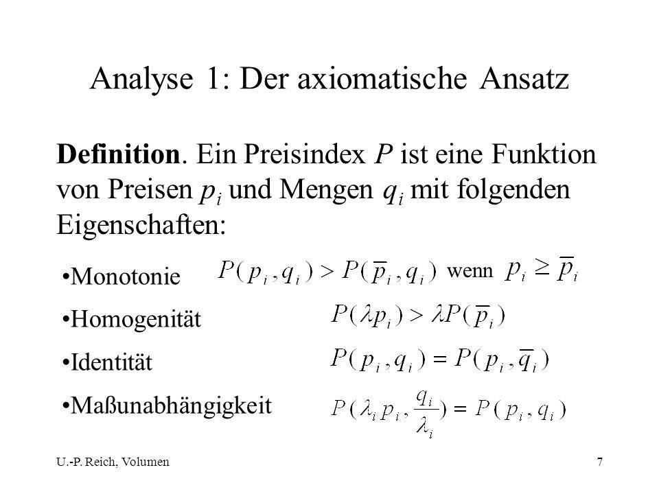 Analyse 1: Der axiomatische Ansatz