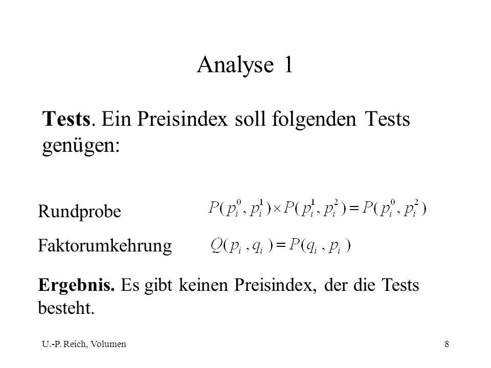 Analyse 1 Tests. Ein Preisindex soll folgenden Tests genügen: