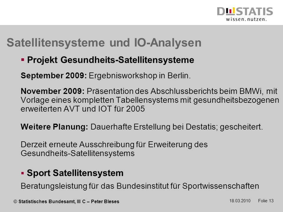 Satellitensysteme und IO-Analysen