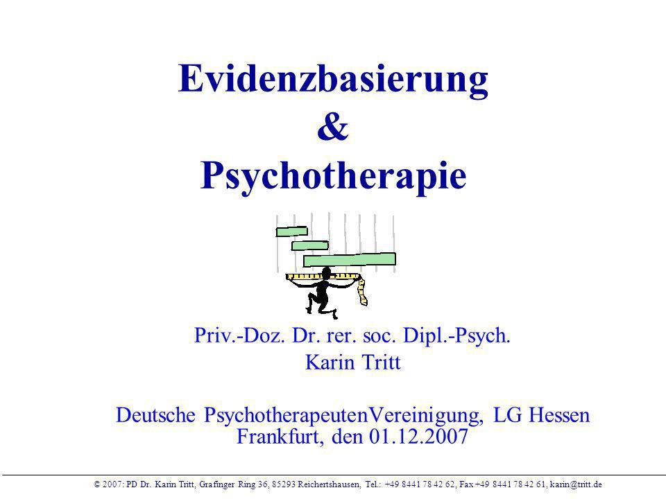 Evidenzbasierung & Psychotherapie