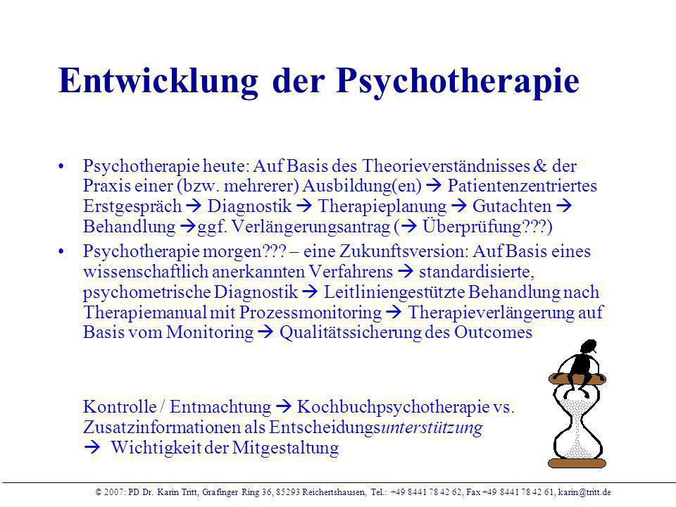 Entwicklung der Psychotherapie