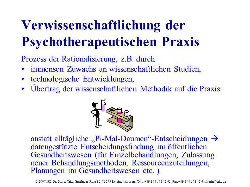 Verwissenschaftlichung der Psychotherapeutischen Praxis