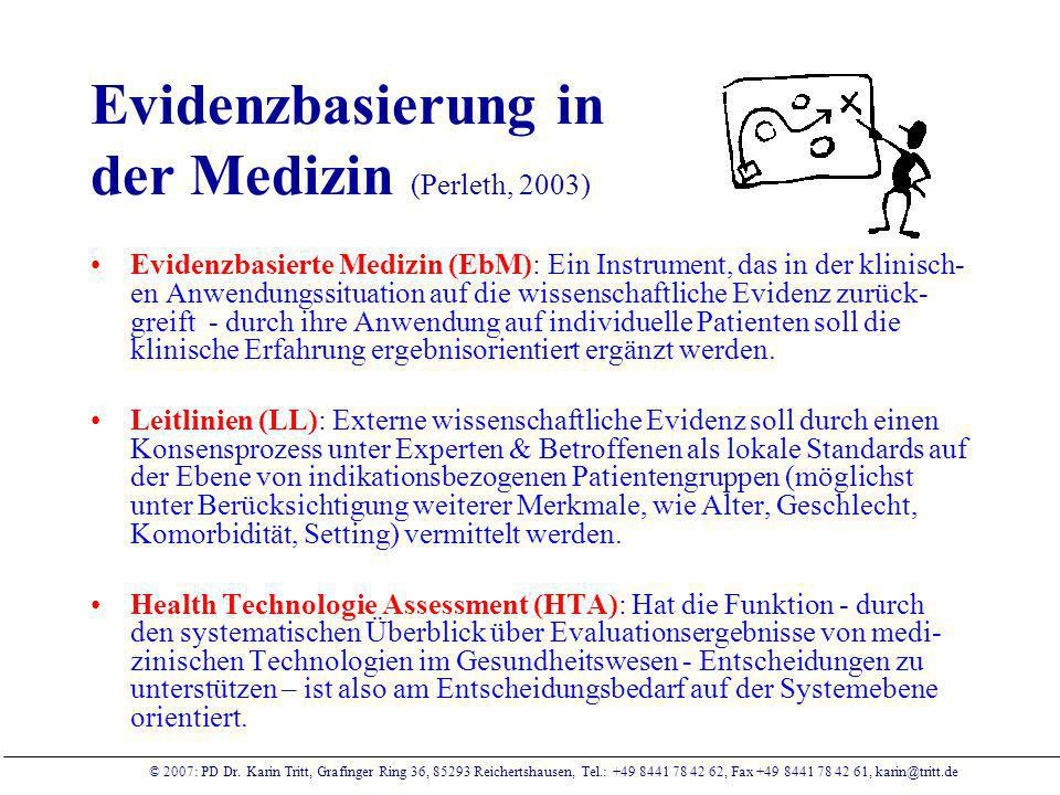 Evidenzbasierung in der Medizin (Perleth, 2003)