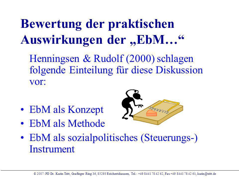 """Bewertung der praktischen Auswirkungen der """"EbM…"""