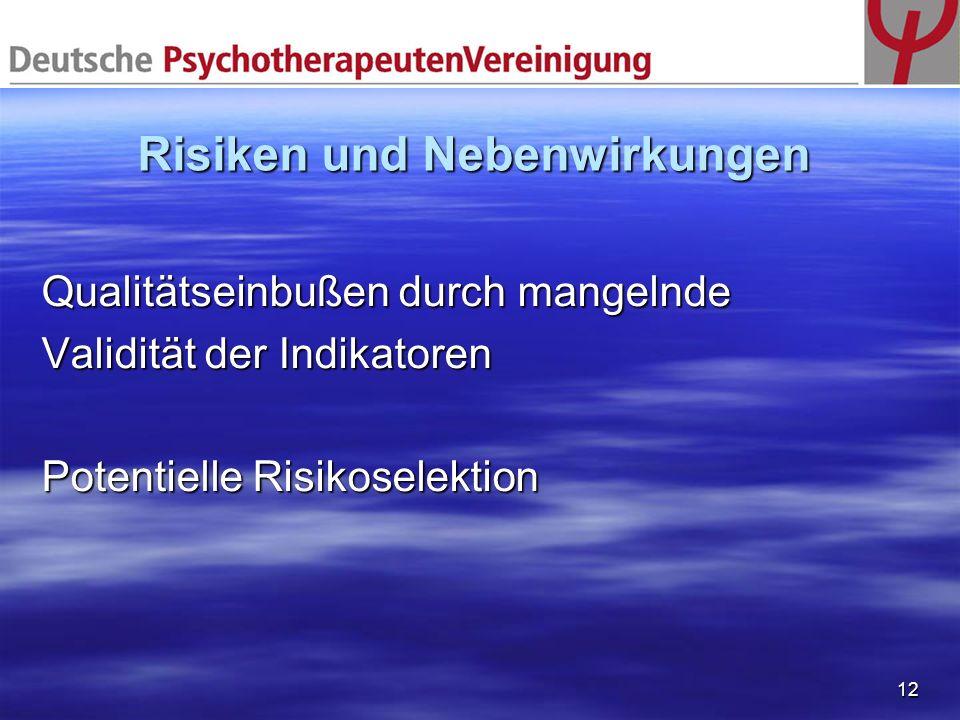 Risiken und Nebenwirkungen