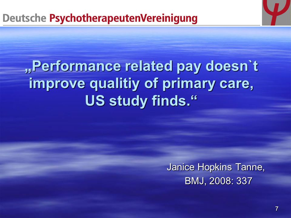 """Performance related pay doesn`t improve qualitiy of primary care, US study finds."