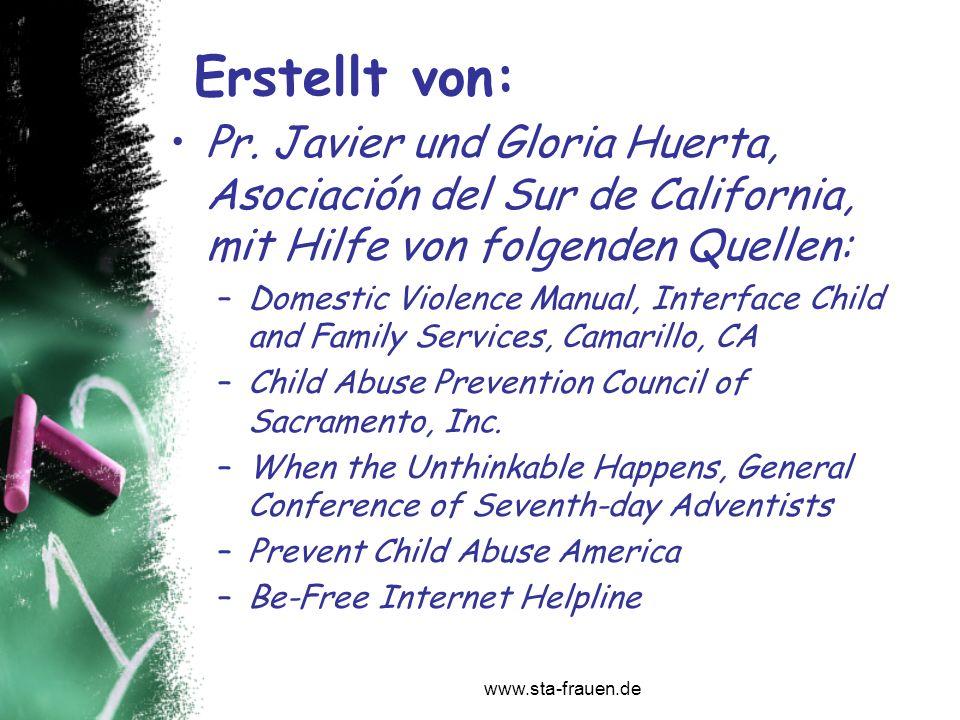 Erstellt von: Pr. Javier und Gloria Huerta, Asociación del Sur de California, mit Hilfe von folgenden Quellen:
