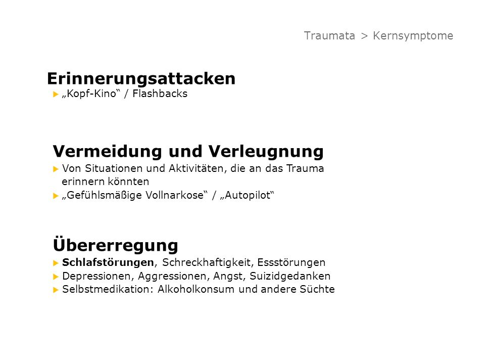 Traumata > Kernsymptome