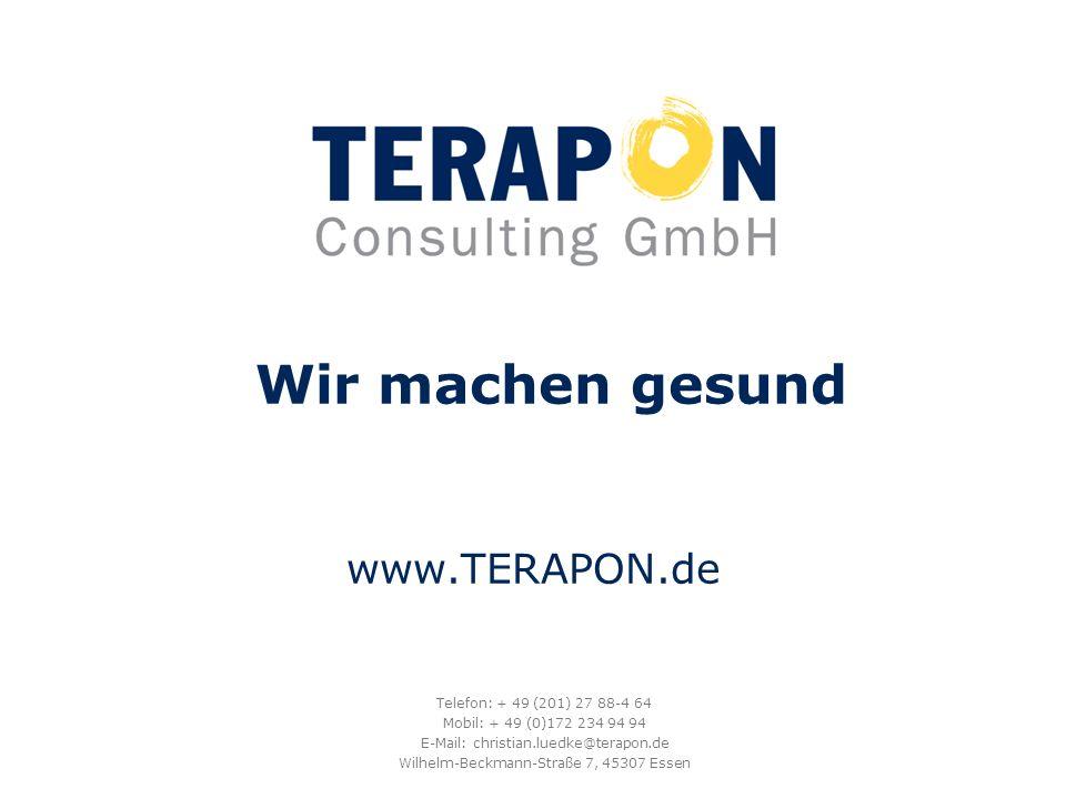 Wir machen gesund www.TERAPON.de