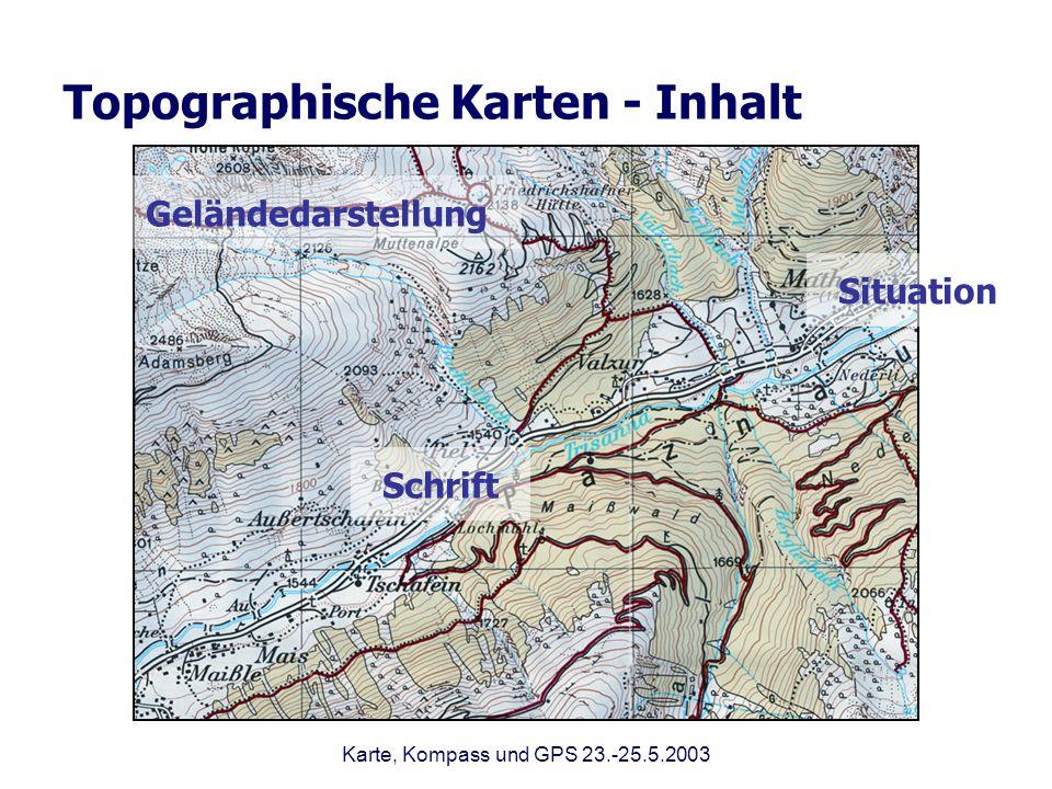 Topographische Karten - Inhalt