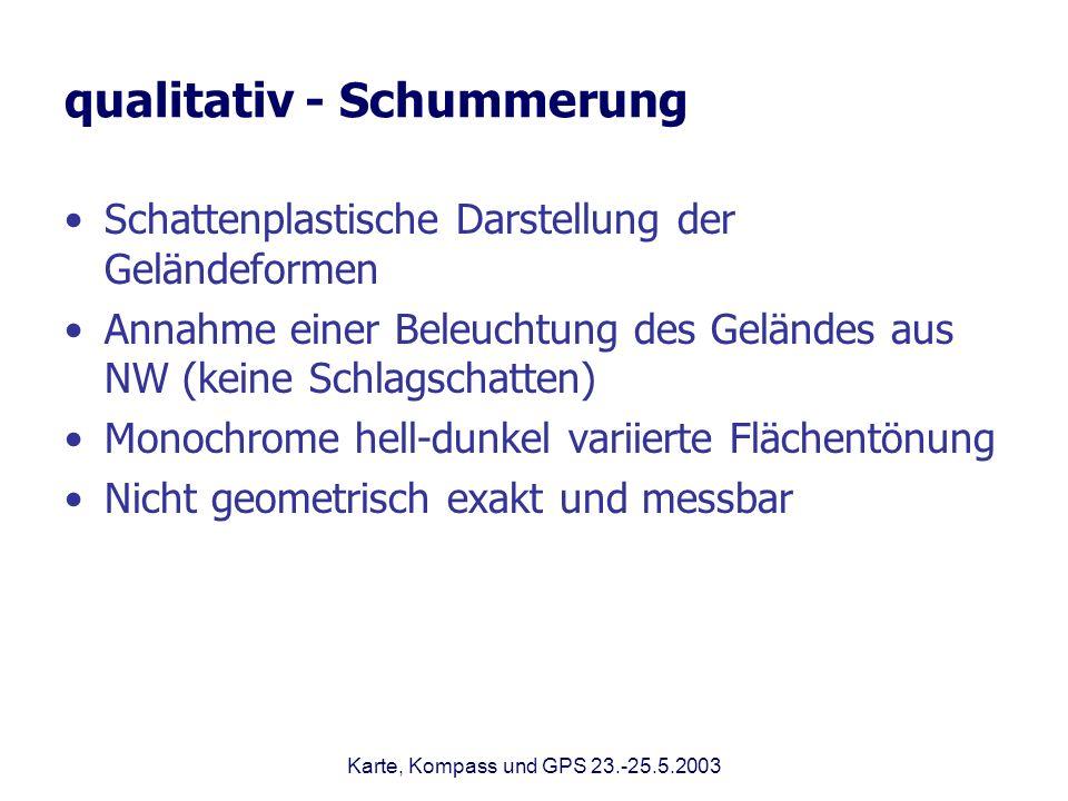 qualitativ - Schummerung